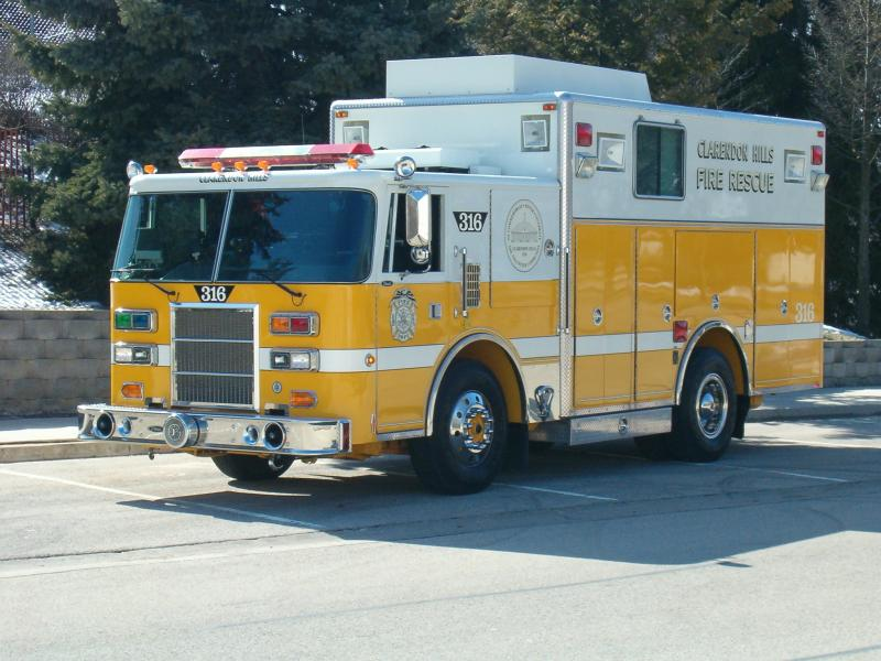 The yellow Fire Truck Number 316